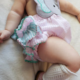 Pink Elephant Ruffle Bubble