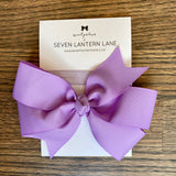 Purple Hair Bow or Headband