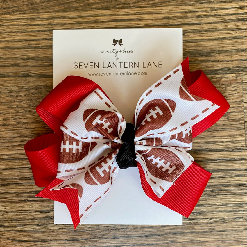 Red GameDay Football Hair Bow or Headband
