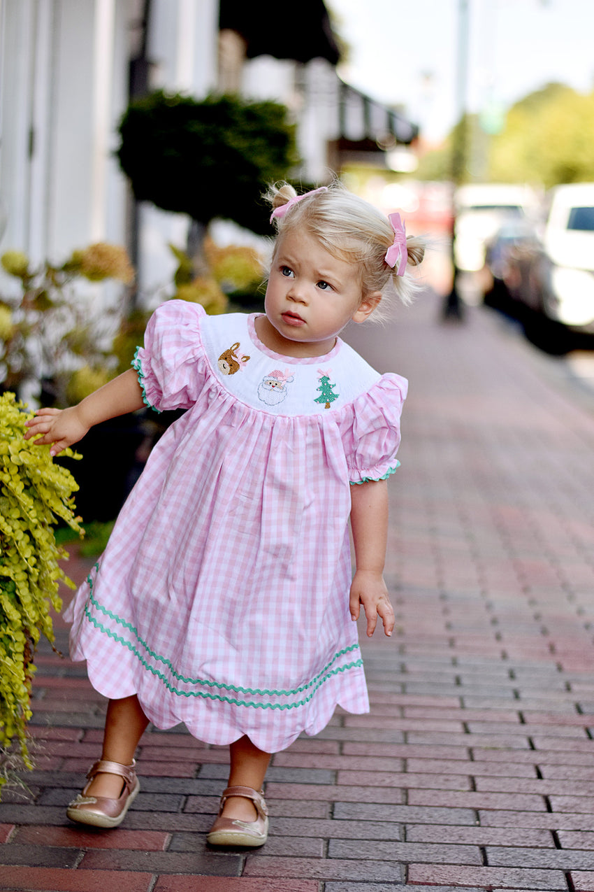 Smocked Bishop Christmas Dress