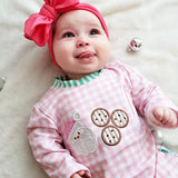 Pink Cookies For Santa Ruffle Romper