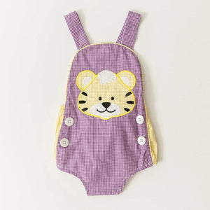 Purple & Gold Tiger Sunsuit