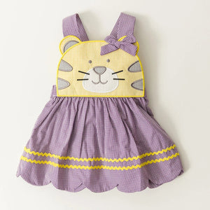 Purple & Gold Tiger Dress