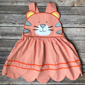 Scallop Hem Tiger Dress