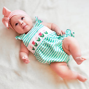 Smocked Knit Tulip Bum Ruffle Bubble