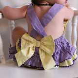 Purple & Gold Tiger Ruffle Bubble