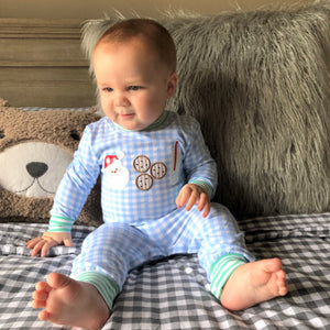 Blue Cookies For Santa Romper