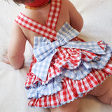 Girls Cow  Ruffle Bubble