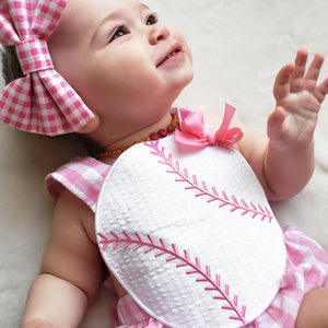 Pink Baseball Ruffle Bubble