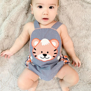 Navy & Orange Tiger Sunsuit