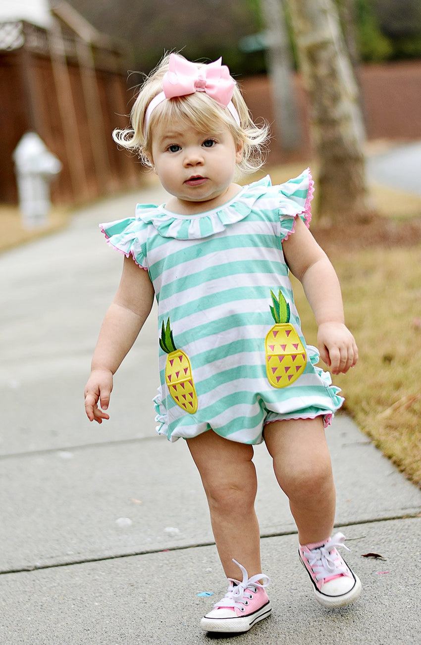 Pineapple Pocket Ruffle Bum Knit Bubble