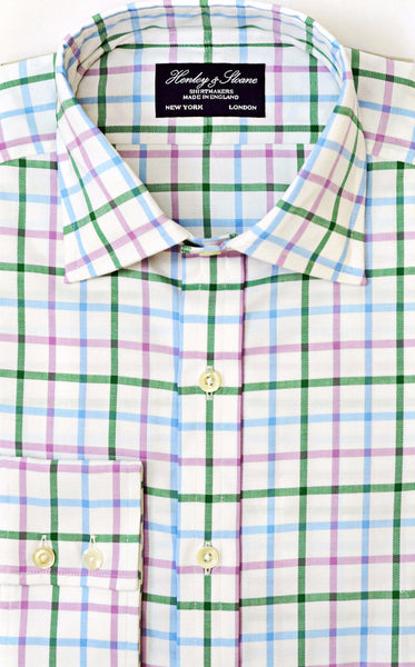 English Spread Collar Two Button Cuff Shirt