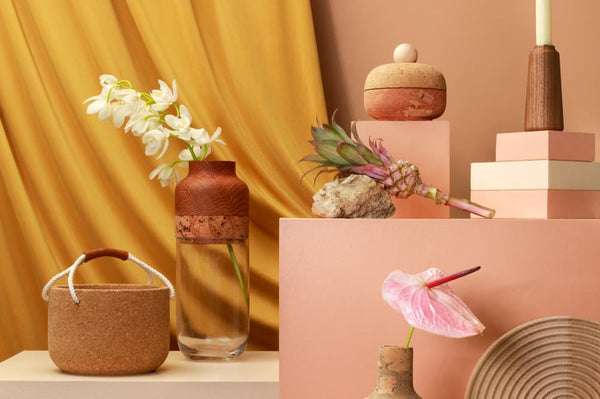 Display of Melanie Abrantes using the material cork