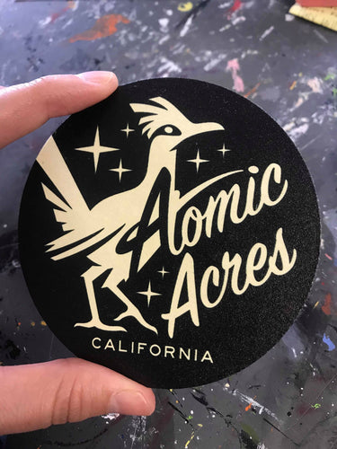ATOMIC ACRES coaster set