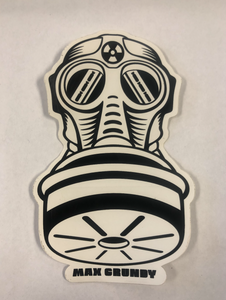 SMALL GASMASK die-cut sticker