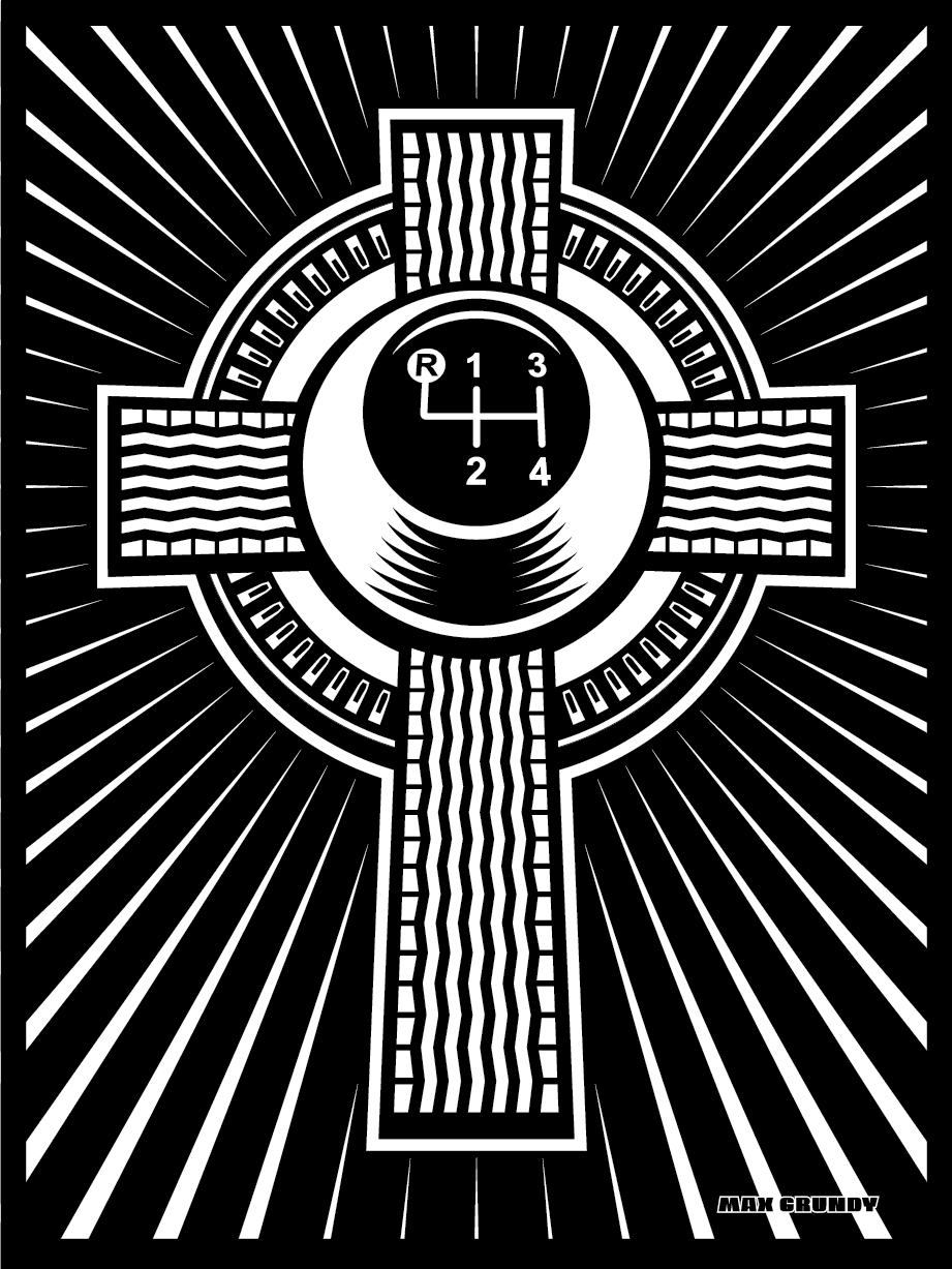 CELTIC CROSS limited edition silk screen print