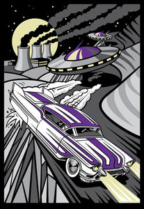CADILLAC COVER-UP silkscreen print