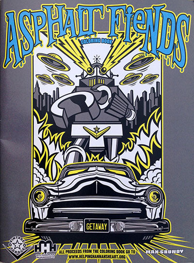 ASPHALT FIENDS coloring book
