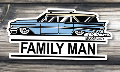 FAMILY MAN die-cut sticker