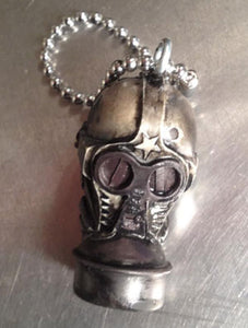 GASMASK KEYCHAIN hand painted
