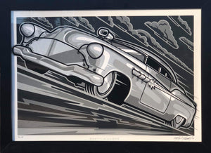 BONNEVILLE BLACKOUT silkscreen print