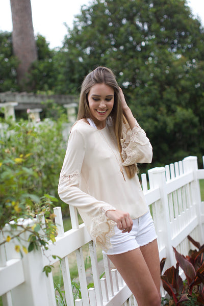 Hopeless Romantic Bell Sleeve Top