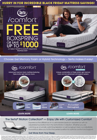 Serta Black Friday Small Business Saturday At Roanoke Mattress