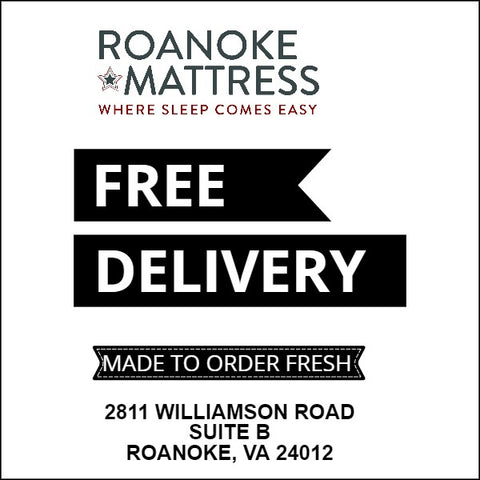 Free Delivery at Roanoke Mattress