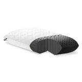 Malouf Zoned Dough® + Bamboo Charcoal Pillow - Roanoke Mattress - 1