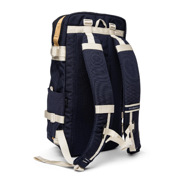 nautical wander pack with adjustable and removable shoulder straps