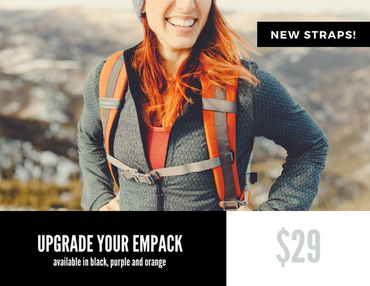Orange EmPack Padded Straps