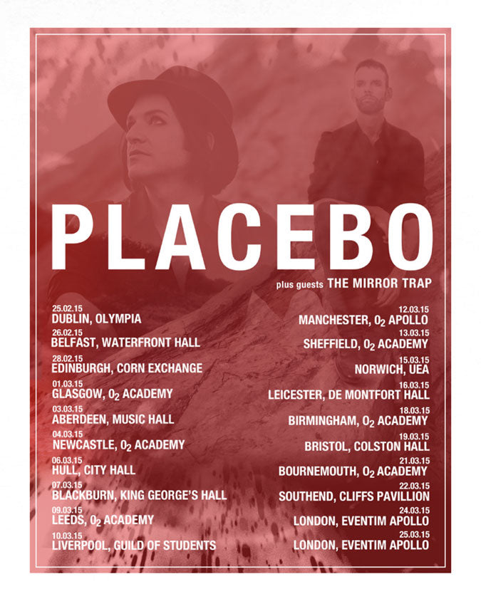 Placebo (Loud Like Love Tour 2015) A2 Poster