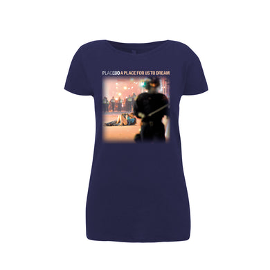 Placebo 'A Place For Us To Dream Tour 2016' Ladies Navy T-Shirt
