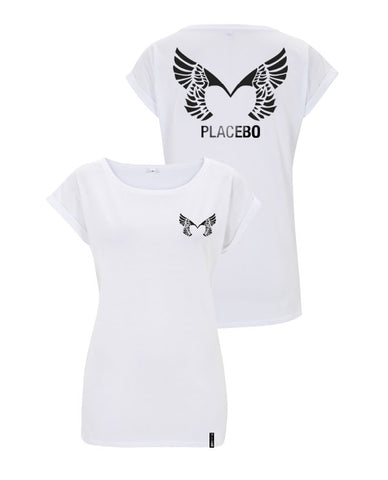 Placebo 'Wings' Ladies White T-Shirt