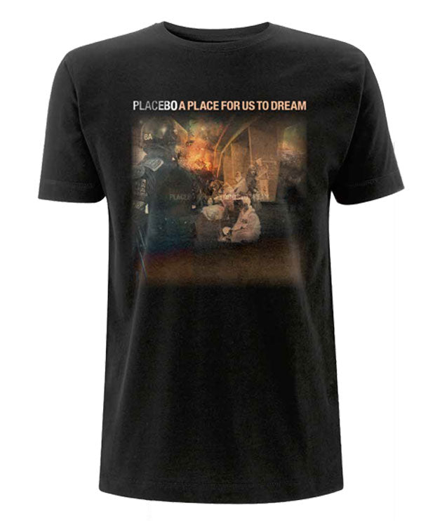 Placebo 'A Place For Us To Dream LP02' Black T-Shirt