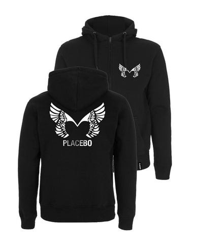 Placebo 'Wings' Black Zipped Hoodie