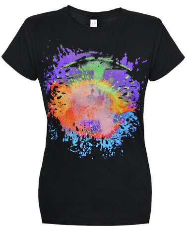 Placebo (Colour Splash) Ladies Black T-Shirt