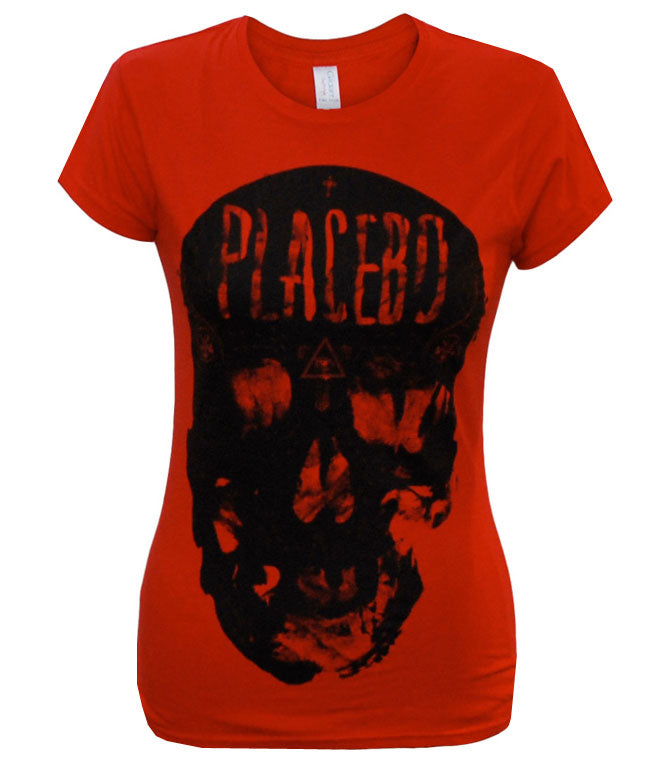 Placebo (Skull) Ladies Red T-Shirt