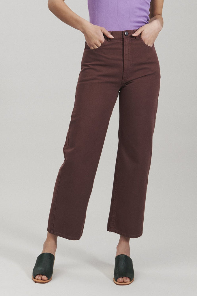 Pennon Pant in Clay Chino Twill by Rachel Comey