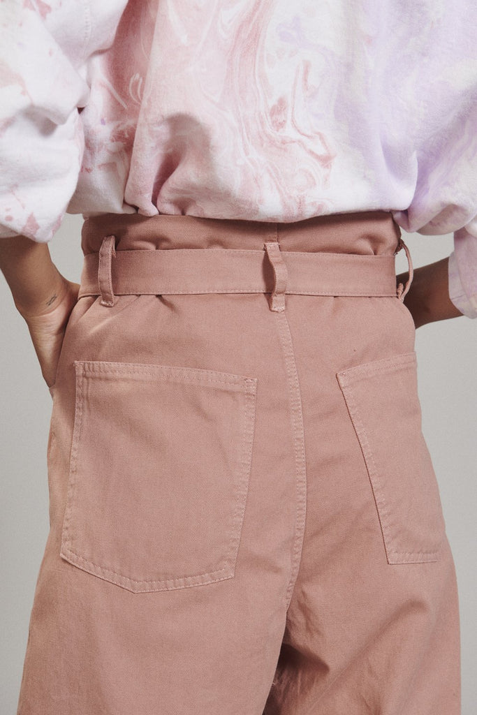 Irolo Pant in Blush Chino Twill by Rachel Comey