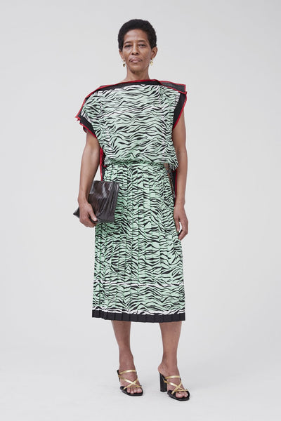 Pair Dress in Mint Zebra Foulard by Rachel Comey
