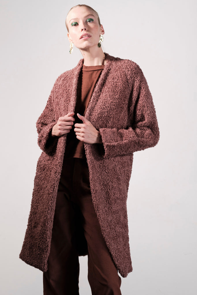 Verde Coat in Clove by Maria Stanley