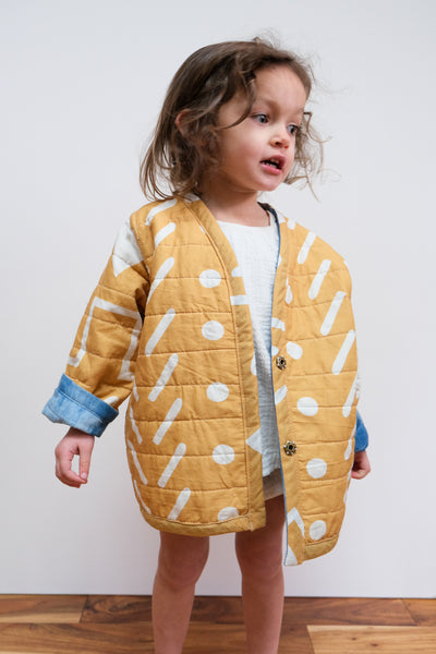 Earth & Water Reversible Quilted Coat by Candid Art