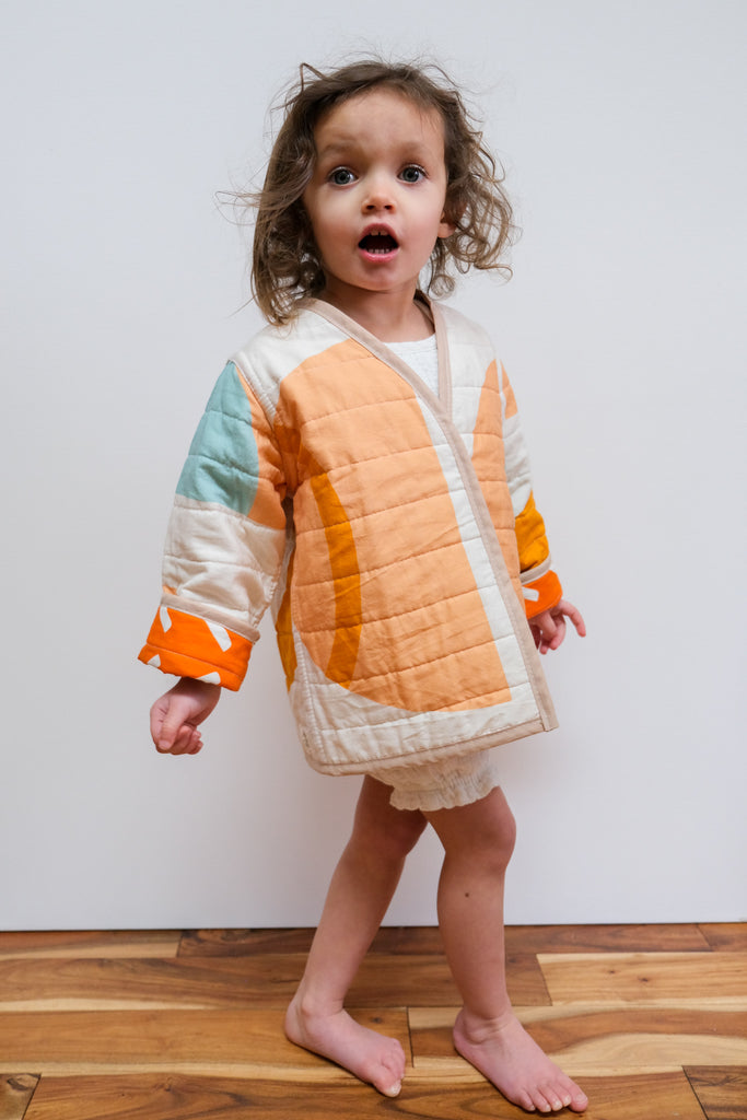 Shapes & Angles Reversible Quilted Coat by Candid Art