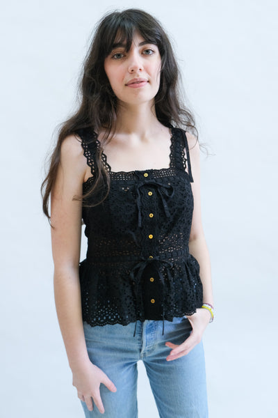 Tallis Top in Noir by Ulla Johnson