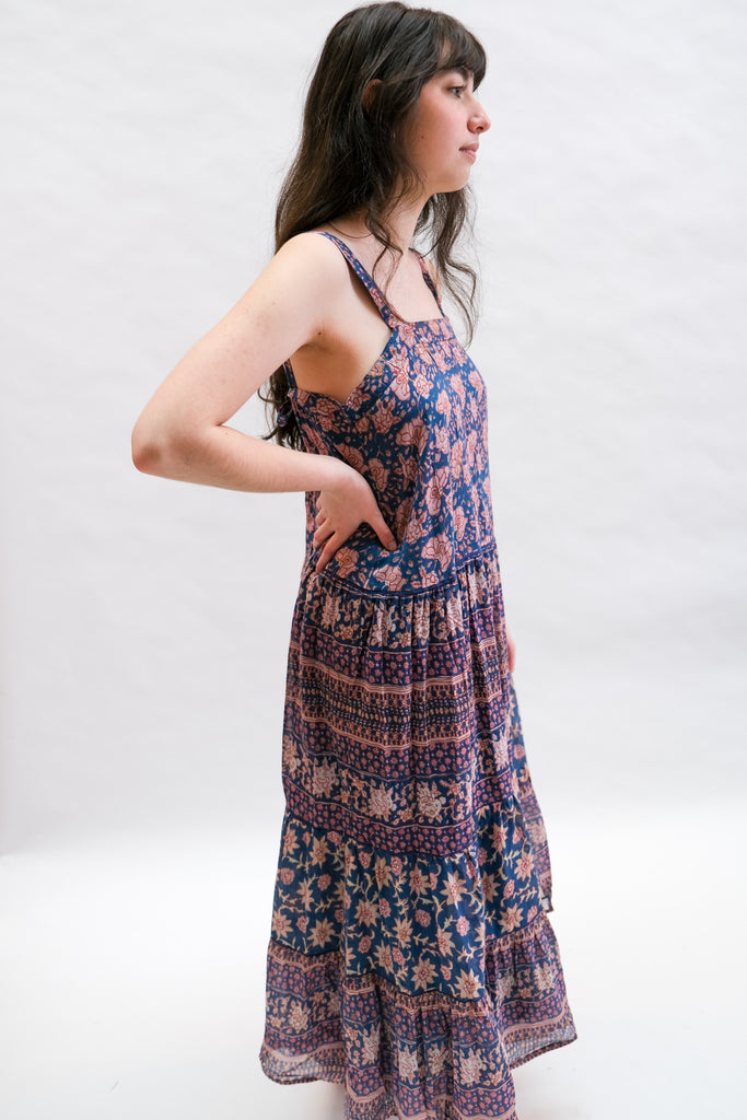 Carli Sundress in Teal Flowers by M.A.B.E