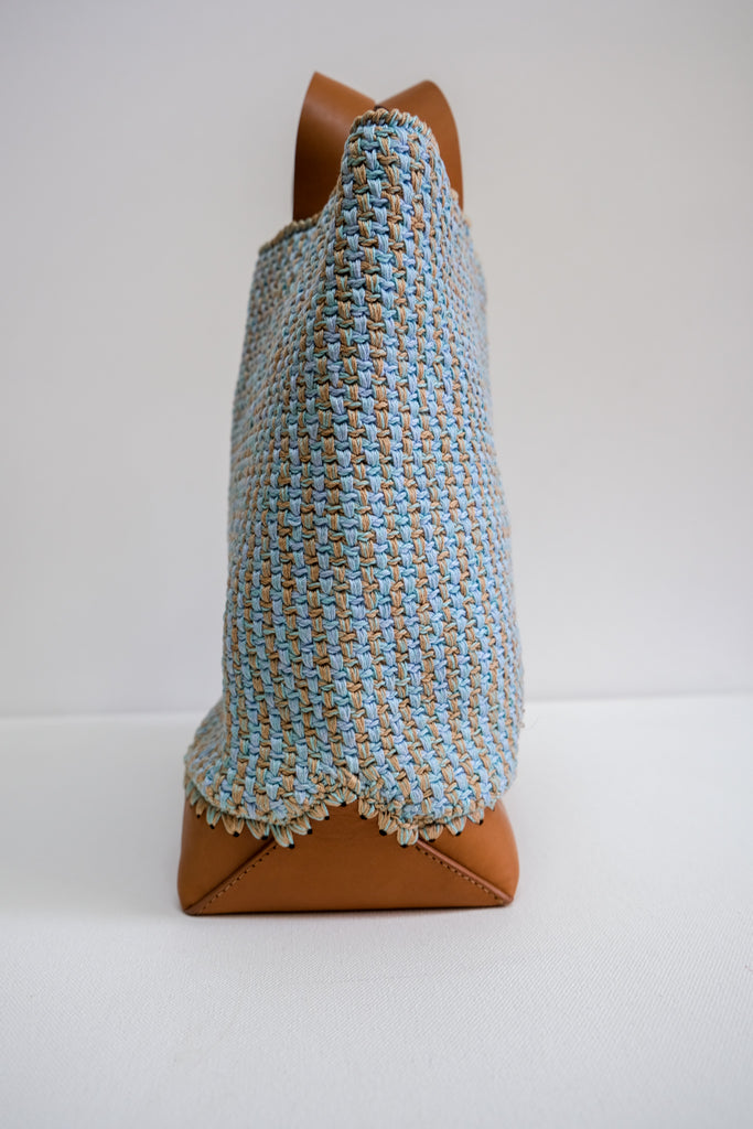 Olim Tote in Mint Crochet by Rachel Comey