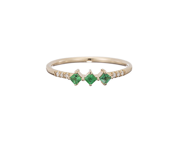 Emerald Harmony Ring by Jennie Kwon