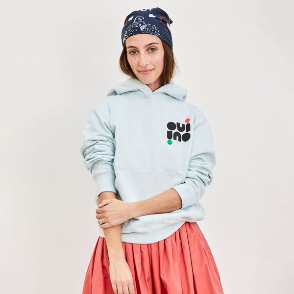 OUI Hoodie in Pale Blue by Clare V