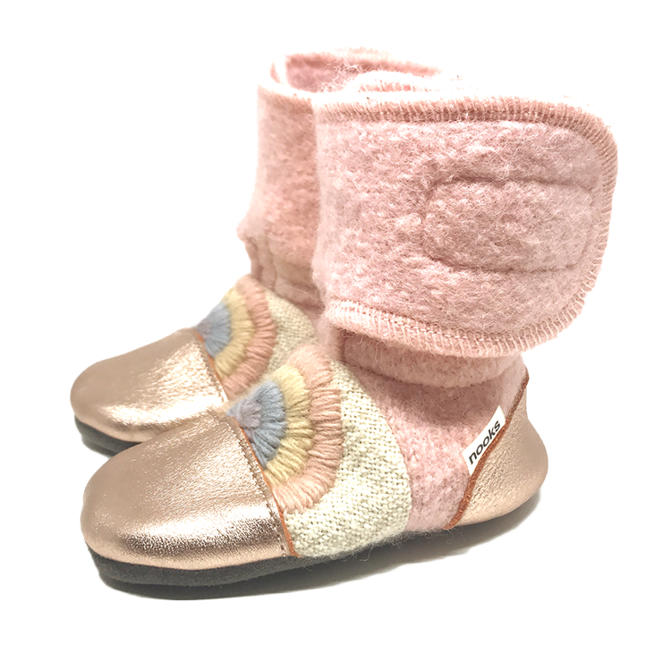 Love Child Felted Wool Booties by Nooks Design